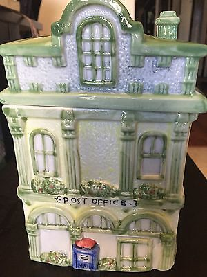 Ceramic Post Office Cookie Jar--hand painted
