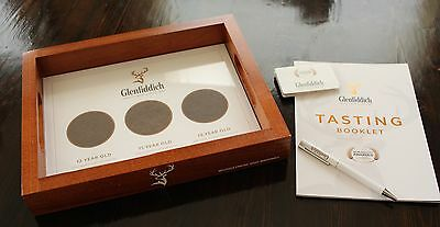 NEW Glenfiddich Single Malt Scotch Whisky Wooden Serving/Tasting Tray w/ Extras!