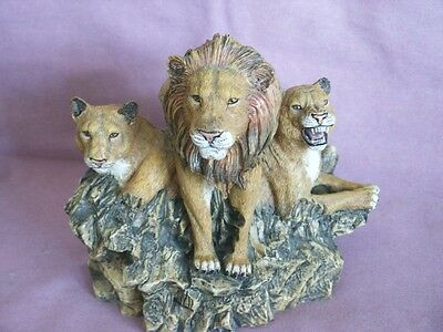 Lion Statue Figurine Heavy Resin Wild Jungle Animal
