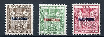 Cook Islands 1931-32 Postal Fiscal to 10s SG95/7 MVLH