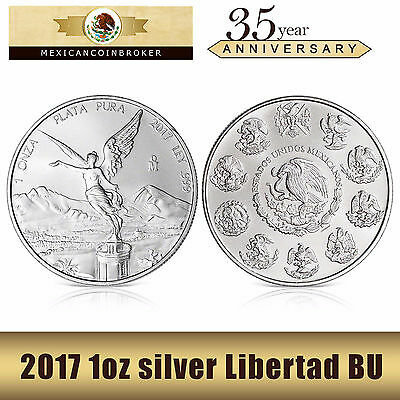 2017 1oz silver Libertad BU  *Treasure Coin of Mexico™* PRE-SALE