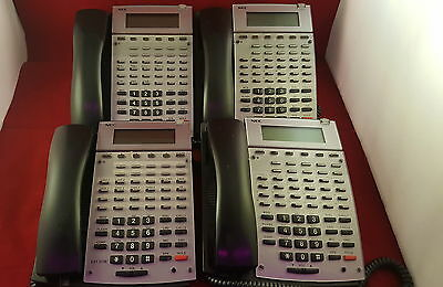 LOT OF 4 NEC Aspire 34 Button Phone IP1NA-24TXH W/ handset and cord