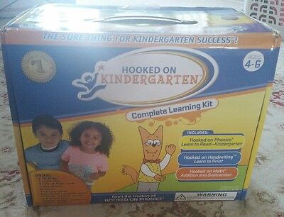 Hooked on Phonics - Kindergarten Complete Learning Kit Ages 4-6 Writing Math NEW