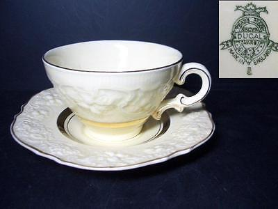 Beautiful Crown Ducal Crd143 Cup & Saucer [3] - Embossed Edge