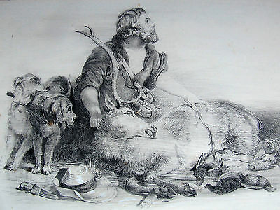 Extremely Fine Antique 19th Century Drawing