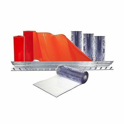 Aleco Clear 3x7-Feet Flexible Barrier Walk-In Freezer Curtain PVC Strip Door Kit