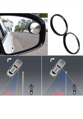 Pack Of 2 Small Blind Spot Mirrors Adjustable Car Van Blindspot Towing Reversing