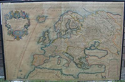 Rare Hubert Jaillot - Sanson Antique Map Of Europe L'Europe C. 1696 Paris France