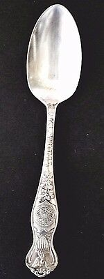 Antique State of Oklahoma Silver Plate Souvenir Spoon, Oneida Community A1
