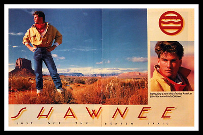 1986 Shawnee Mens Clothing Ad - Jeans - Vintage 1980s Advertising Page - 80s