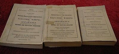 3 Vintage National Electric Code Books Electric Wiring and Apparatus 1951, 53,62