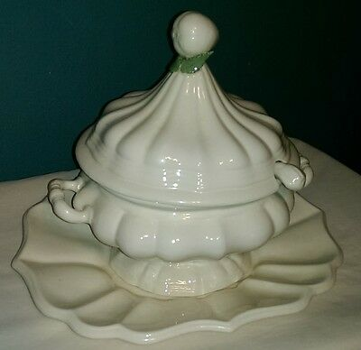 Vintage Soup Tureen with Lid, Underplate & Ladle