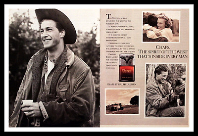 1988 Chaps by Ralph Lauren Mens Cologne Ad - Vintage 1980s Advertising Page 80s