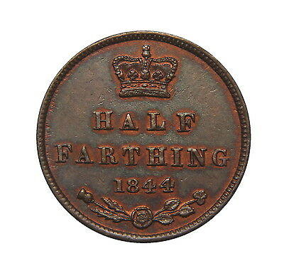 Victoria 1844 Half Farthing GVF Traces of Lustre.