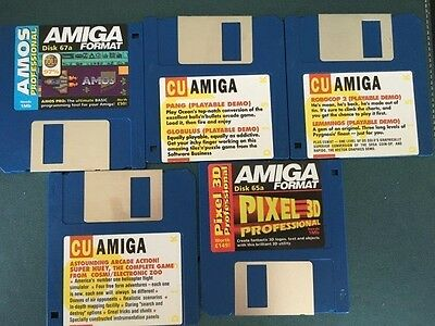 Commodore Amiga software disks various games and utilities #8