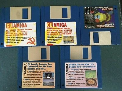Commodore Amiga software disks various games and utilities #9
