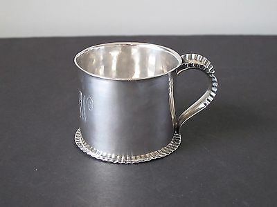Antique 19th c. Gorham Sterling Silver Baby Cup Circa 1887 Hand Chased
