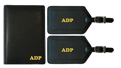 5dfdfa782bfb PERSONALIZED MONOGRAMMED LEATHER RFID Passport Holder Cover - $21.99 ...