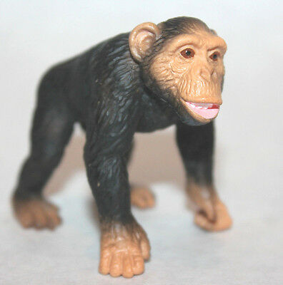 "2.25"" Schleich chimpanzee wild animals jungle 14189 figurine germany figure ape"