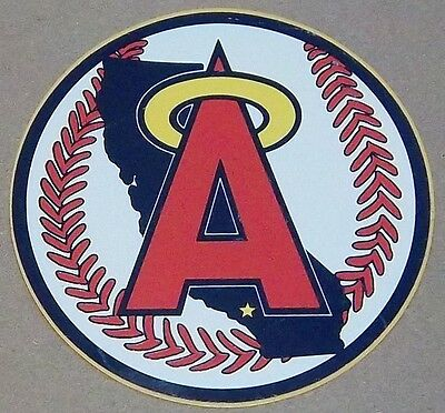 "California (Los Angeles) Angels 1980s - 1990s Team Logo 4"" MLB Decal Sticker"