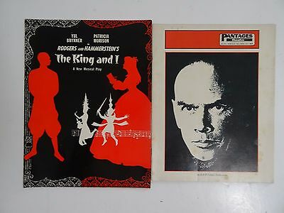 Vintage Theatre Programs - The King and I (1954) Yul Brynner Patricia Morison