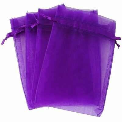 KUPOO Pack of 50PCS 8x12 Inch Organza Drawstring Gift Bag Pouch Wrap for Purple