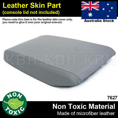 Leather Armrest Center Console Lid Cover Fits Toyota Kluger 2008-2013 Gray