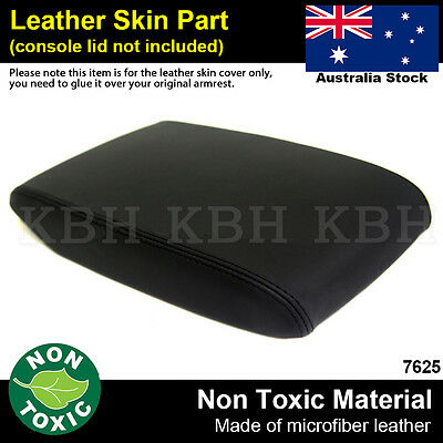 Leather Armrest Center Console Lid Cover Fits Toyota Kluger 2008-2013 Black