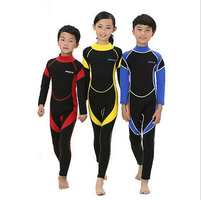 2.5MM Neoprene UV Warm Wetsuits Kids Diving Suits Surfing Boys Girls Swimsuits