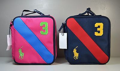 Nwt Polo Ralph Lauren Big Pony Rugby Insulated Lunch Box Bag 2 Colors