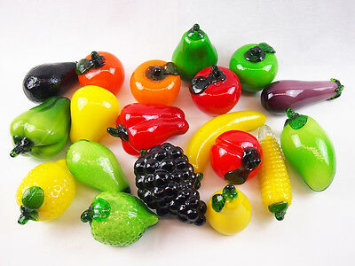 Art Glass Fruit Vegetable home Deco red yellow banana apple Brand new 4.99 each