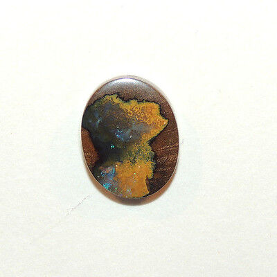 Boulder Opal Cabochon 15x12mm with 4mm dome from Australia  (12207)