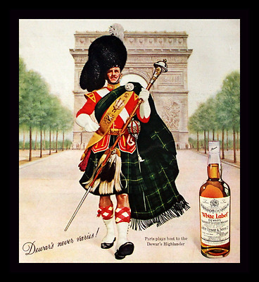 1966 Dewar's White Label Scotch Ad - Scotch Whiskey - Whisky - Advertising Page