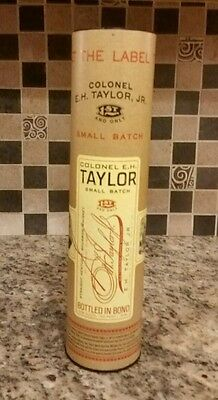 """Colonel E H Taylor Small Batch Bourbon Cardboard 14"""" Tin Only"""