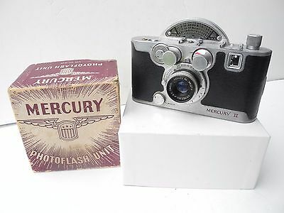 - Univex Mercury II 1/2 Frame 35mm Camera, 35mm f2.7 Lens USA Made, Orig Flash
