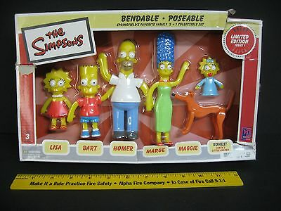 The Simpsons Bendable Poseable Collectible Set Limited Edition Series 1 New