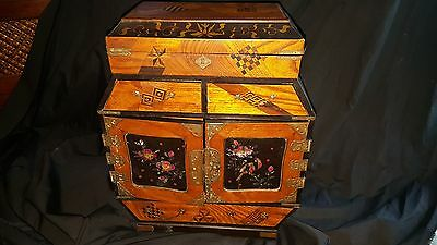 Japanese Marquetry Table Cabinet - circa 1900
