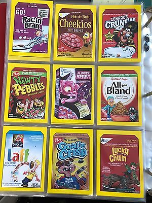 2017 Topps 50th Anniversary Wacky Packages Complete CRAZY CEREAL SET 9/9 YELLOW