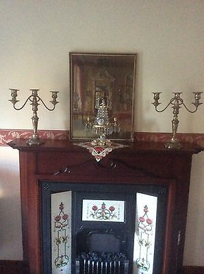 Antique Large Pair Candelabra's Also Can Turn Into Candlestick's