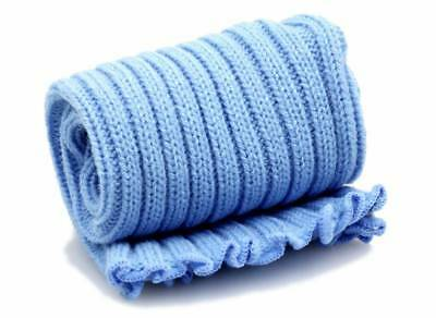 Pole Dance Gym Extra long Stirr-up Knit Legwarmers Baby Blue