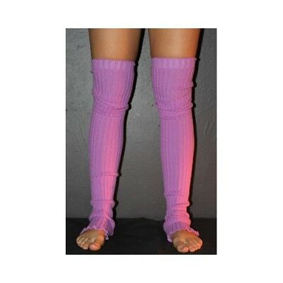Pole Dance Gym Extra long Stirr-up Knit Legwarmers Lilac