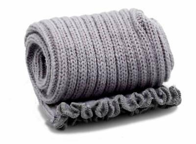 Pole Dance Gym Extra long Stirr-up Knit Legwarmers Grey