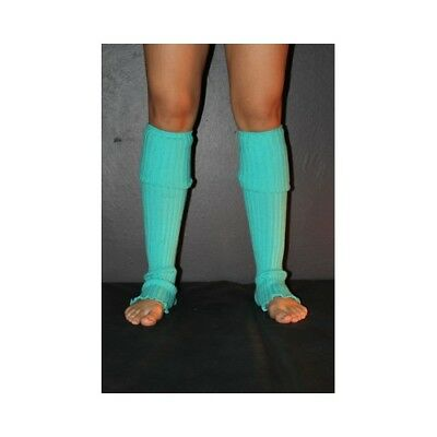 Pole Dance Gym Extra long Stirr-up Knit Legwarmers Green