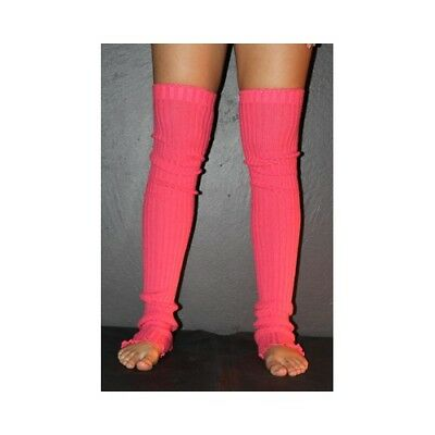 Pole Dance Gym Extra long Stirr-up Knit Legwarmers Watermelon