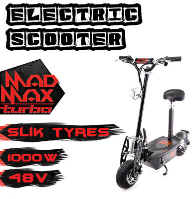 Mad Max Electric Scooter Ride On Kids 140w 12v Battery Bike Blue Boys Toy
