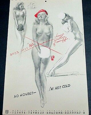 Macpherson February 1943 Pinup Calendar Page, 'im Not Cold'