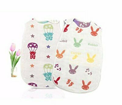 KaWaii Baby Reversible 100% Muslin Cotton Sleep Sack Double-Layered Great Gift