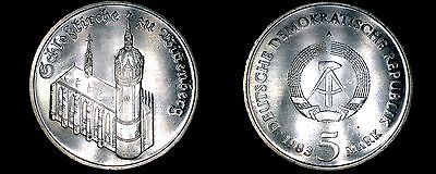 1983A German Democratic Republic 5 Mark Coin-  East Germany- Wittenberg Church