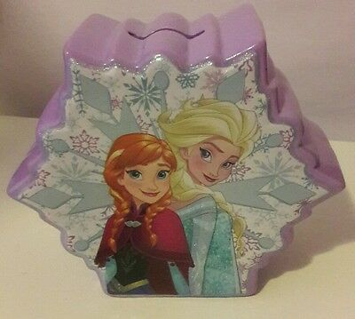 Disney's Frozen Piggy Bank Ceramic Olaf, Anna and Elsa Double Sided Snowflake