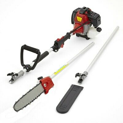 52cc Petrol Long Reach Pole Chain Saw Pruner Chainsaw Garden Tool 2 Stroke 3HP